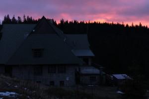 Wigilijny wschód słońca na Przehybie…